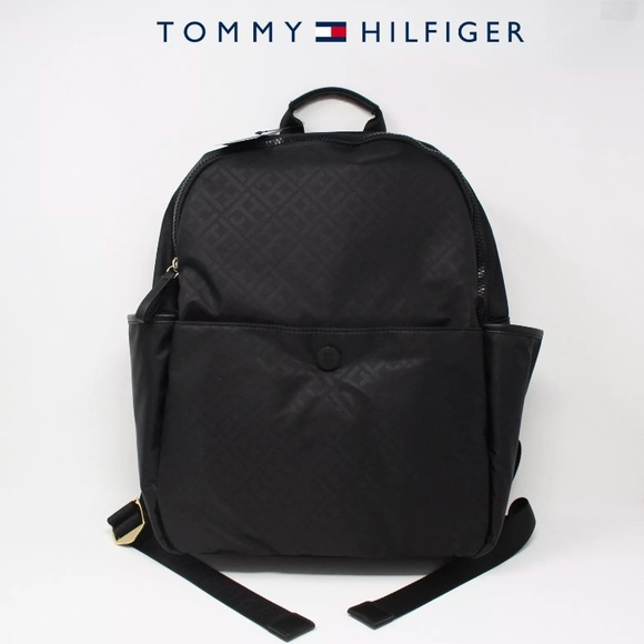 7ed3f0e7 Tommy Hilfiger Bags | Nylon Backpack School Travel Black | Poshmark